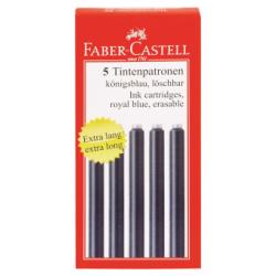 Cartuse Cerneala Mari Albastre 5 Buc/Cutie Faber-Castell