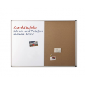 COMBI BOARD 90X60 cm, whiteboard/pluta, 1240370 MAGNETOPLAN