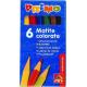 Creioane colorate Morocolor Primo, 9 cm lungime, 6 culori/cutie