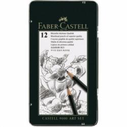 Set Arta 12 buc Creion Grafit Castell 9000 Faber-Castell