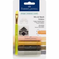 Set 4 Pasteluri Solubile Gelatos Nuante Neutre Faber-Castell