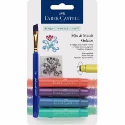 Set 4 Pasteluri Solubile Gelatos Nuante Metalice Faber-Castell
