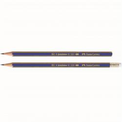 Creion grafit 3B fara guma Goldfaber 1221 Faber-Castell