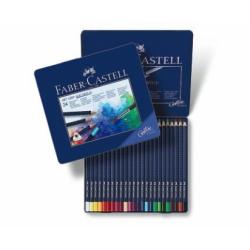 Creioane Colorate Aquarelle Art Grip 24 Culori Cutie Metal Faber-Castell