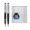 SET WATERMAN EXPERT STILOU+PIX DELUXE BLACK CT+Cutie pt. cadou Celebration cu calimara!