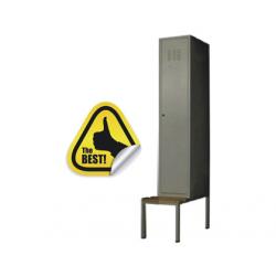 VESTIAR COMPARTIMENTAT METALIC CU 1 USA SI BANCUTA, 400x450x2200 mm (LxlxH), ECO+