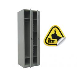 VESTIAR METALIC 2 USI CU 1 COMP. CU 4 POLITE, 600x450x1800 mm (LxlxH), ECO+