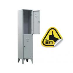 VESTIAR METALIC CU PICIOARE SI 2 USI 113/02/P, 350x500x1800 mm, Italia
