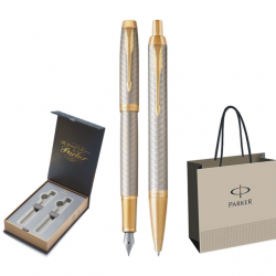 SET PARKER IM ROYAL STILOU+PIX Premium Warm Silver GT+CUTIE BRITISH COLLECTION DUO+PUNGA PT. CADOU