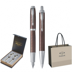SET PARKER IM ROYAL STILOU+PIX Premium Brown CT+CUTIE BRITISH COLLECTION DUO+PUNGA PT. CADOU