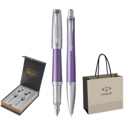 SET PARKER URBAN ROYAL STILOU+PIX Premium Violet CT+CUTIE BRITISH COLLECTION DUO+PUNGA PT. CADOU