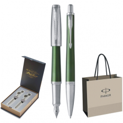 SET PARKER URBAN ROYAL STILOU+PIX Premium Green CT+CUTIE BRITISH COLLECTION DUO+PUNGA PT. CADOU