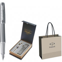 STILOU PARKER URBAN ROYAL Premium Silver Powdered CT+CUTIE PT. CADOU PARKER BRITISH COLLECTION CU ETUI, model 1+PUNGA PT. CADOU