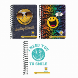 CAIET A6 200F SPIRALA PATRATELE SMILEY WORLD