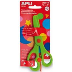 Foarfeca creativa Apli, verde, 13 cm, taiere in zig-zag