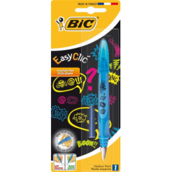 Stilou Bic Easy Clic Comic, 1 bucata/blister
