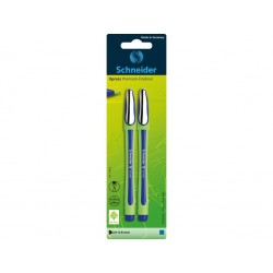 SET 2 FINELINER SCHNEIDER XPRESS 0,8 mm (BLISTER), albastru