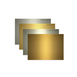 PLACA DIN PLASTIC ABS PT. GRAVATOARE REDSAIL, auriu lucios