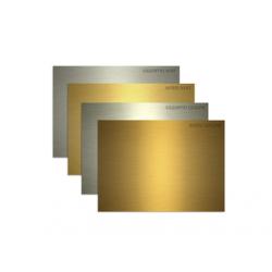 PLACA DIN PLASTIC ABS PT. GRAVATOARE REDSAIL, auriu mat