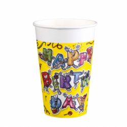 PAHARE PLASTIC 0,2L SET8 CELEBRATION