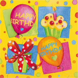 SERVETELE 33X33CM 3 STRATURI SET20 HAPPY BIRTHDAY PARTY