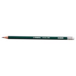Creion grafit Stabilo Othello 2988 cu radiera, HB