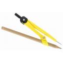 Compas scolar Flaro din plastic, cu creion