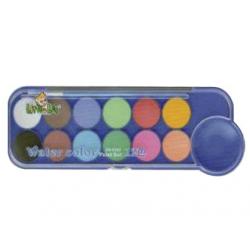 ACUARELE 12 culori LUCIOS + PENSULA, ZG0343