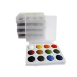 ACUARELE SCOLARE COLIBRI 12 culori