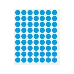 ETICHETE BULINA DIAMETRU 14 mm, 630 buc/set, albastru