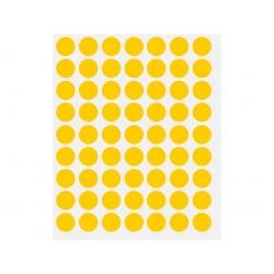 ETICHETE BULINA DIAMETRU 14 mm, 630 buc/set, galben