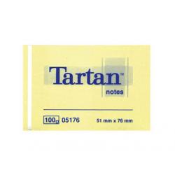 NOTES AUTOADEZIV 3M TARTAN 51x76 mm, galben pastel
