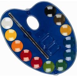 Acuarele cu paleta Morocolor, 12 culori, diametru pastila 25 mm