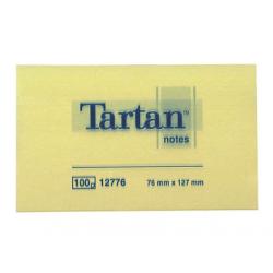 NOTES AUTOADEZIV 3M TARTAN 127X76 mm, galben pastel