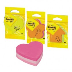 CUB NOTITE AUTOADEZIVE POST-IT, FORME PRETAIATE