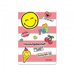CAIET A5 48 FILE LINIAT, CONTINUT IN LIMBA GERMANA, MOTIV SMILEYWORLD GIRLY