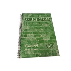 CAIET A5 CU SPIRA DUBLA, 80 FILE