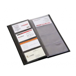 CLASOR CARTI DE VIZITA PVC FLARO, capacitate 80 buc