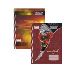 CAIET STUDENTESC A4, CU SPIRA, 100 FILE, COPERTA POLICROMIE