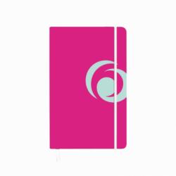 BLOC NOTES A5 88 FILE PATRATELE COPERTA CARTON CU ELASTIC ROZ ELECTRIZANT
