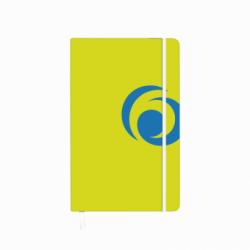 BLOC NOTES A5 88 FILE PATRATELE COPERTA CARTON CU ELASTIC SPORTY LEMON