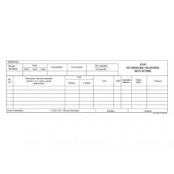 BON DE PREDARE TRANSFER RESTITUIRE AUTOCOPIATIV A5