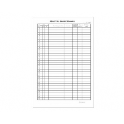 REGISTRU BANI PERSONALI NUMEROTAT A4, 100 file