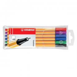 LINER STABILO POINT 88, 0,4 mm, 6 culori/set