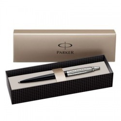 PIX PARKER JOTTER PREMIUM Satin Black Stainless Steel Chiselled CT