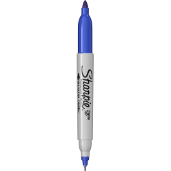 PERMANENT MARKER CU 2 VARFURI 0,5/1.00 mm SHARPIE TWIN TIP