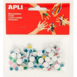 Set ochisori adezivi, rotunzi, diverse culori, 100 buc.set
