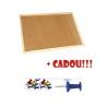 PANOU PLUTA 90x60 cm, rama lemn + CADOU!!! (Pioneze panou pluta asortate 35 buc/cutie)