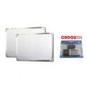 TABLA ALBA MAGNETICA 90x120 cm rama aluminiu + CADOU!!! (SET 4 MARKER WHITEBOARD + BURETE)