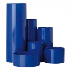 Suport instrumente de scris Flaro, 6 compartimente, albastru